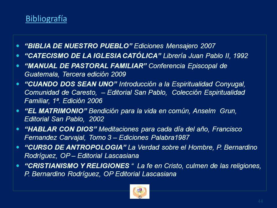 Bibliografía BIBLIA DE NUESTRO PUEBLO Ediciones Mensajero 2007