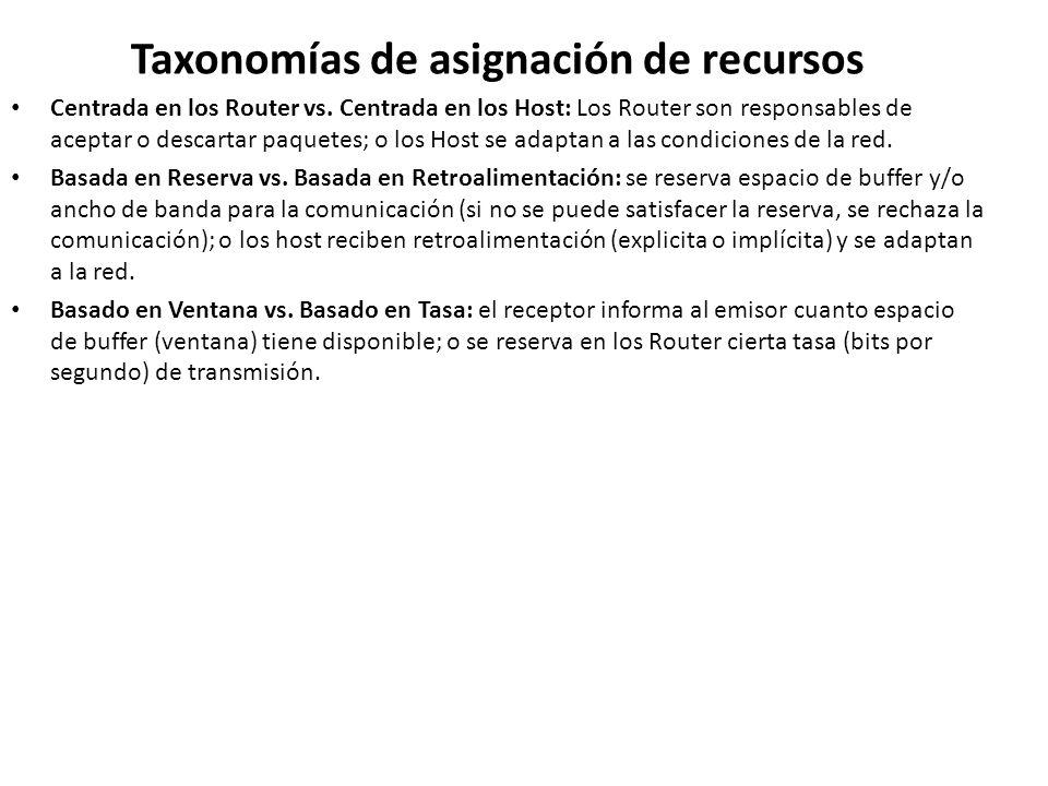 Taxonomías de asignación de recursos