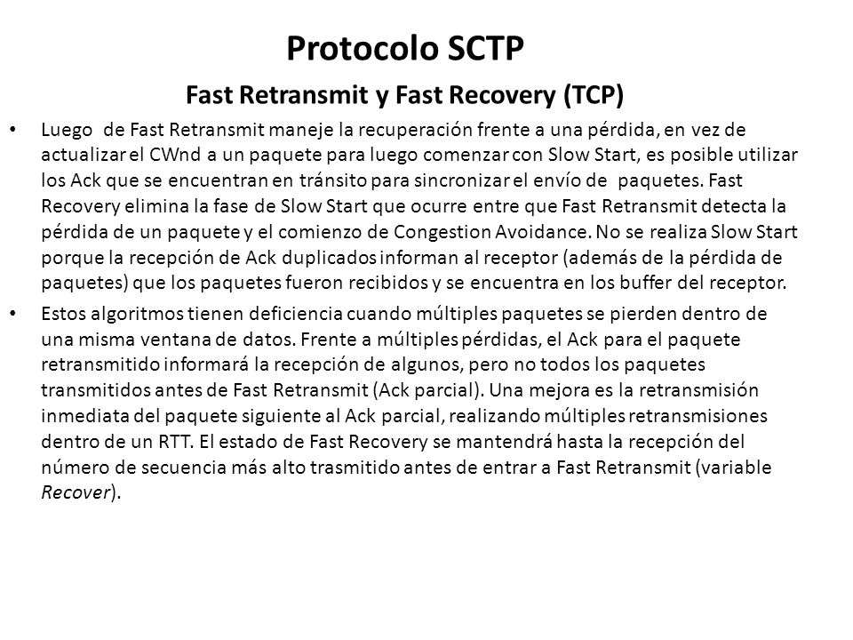 Fast Retransmit y Fast Recovery (TCP)