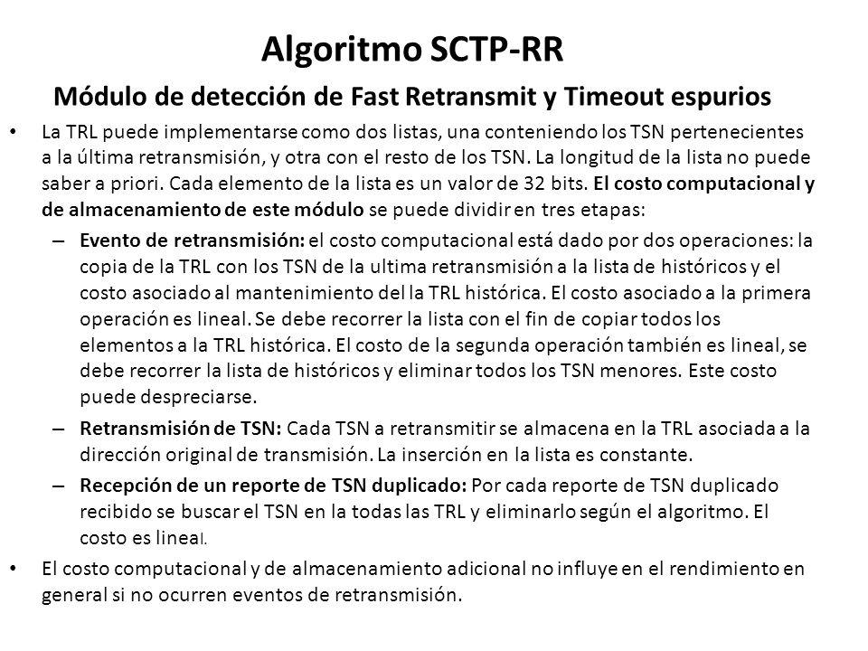 Módulo de detección de Fast Retransmit y Timeout espurios