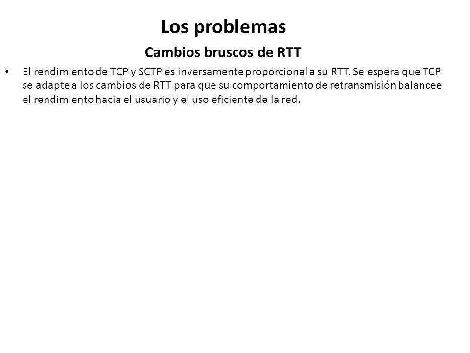 Los problemas Cambios bruscos de RTT