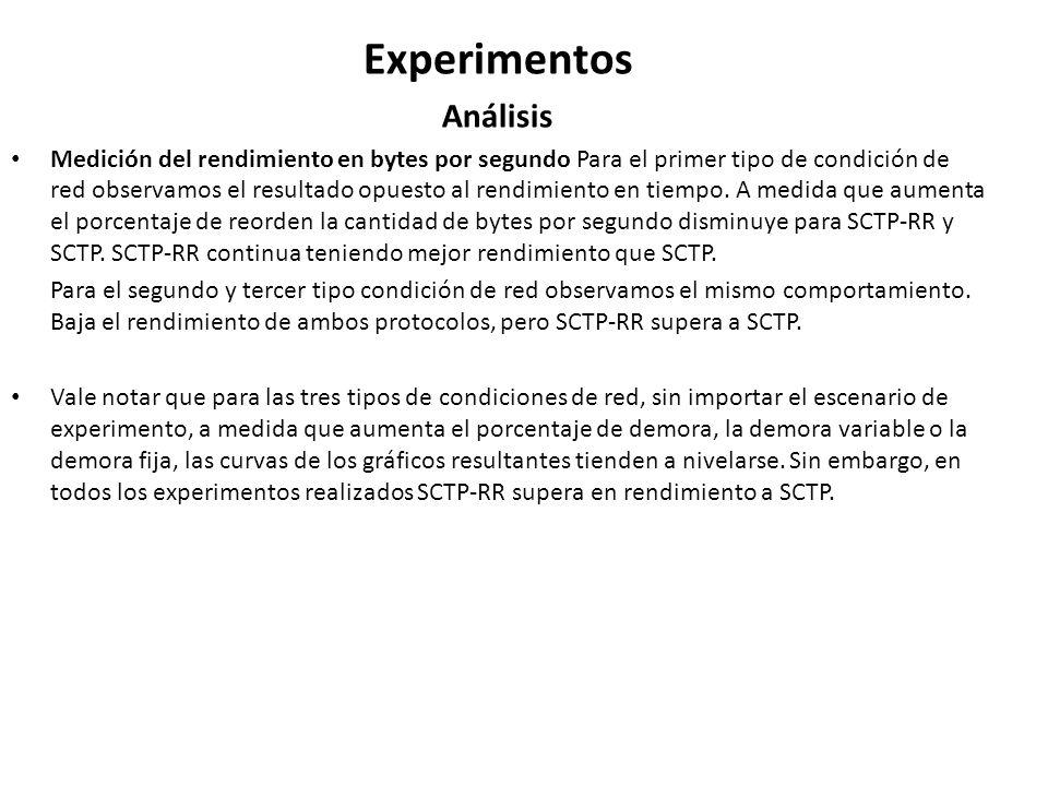 Experimentos Análisis