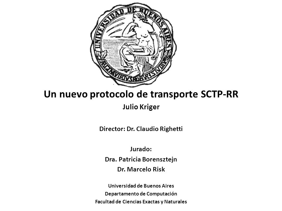 Un nuevo protocolo de transporte SCTP-RR