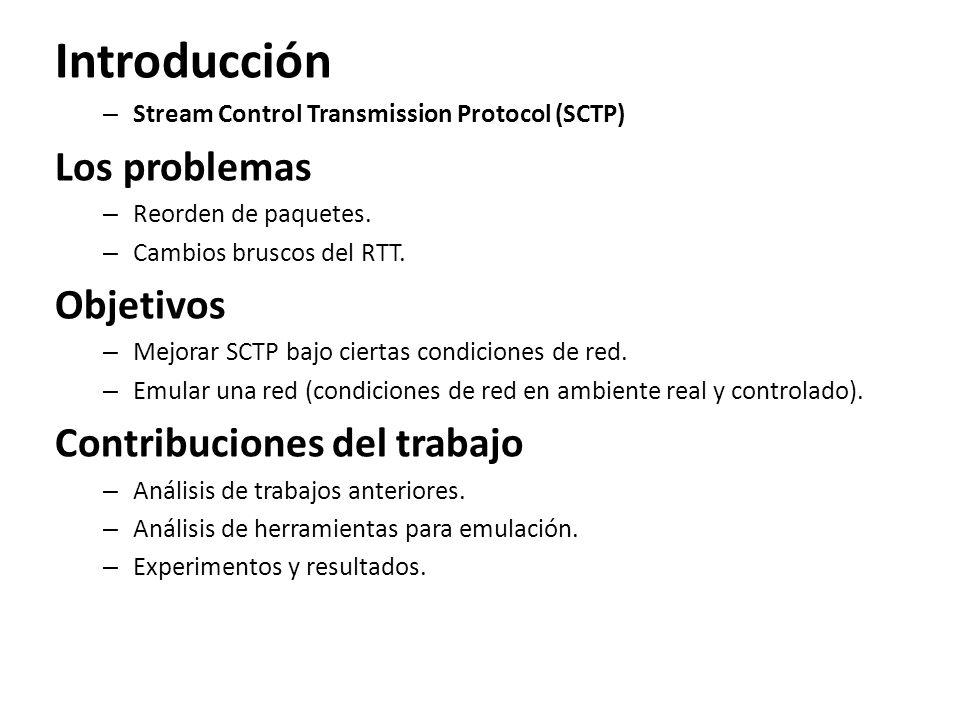 Introducción Los problemas Objetivos Contribuciones del trabajo