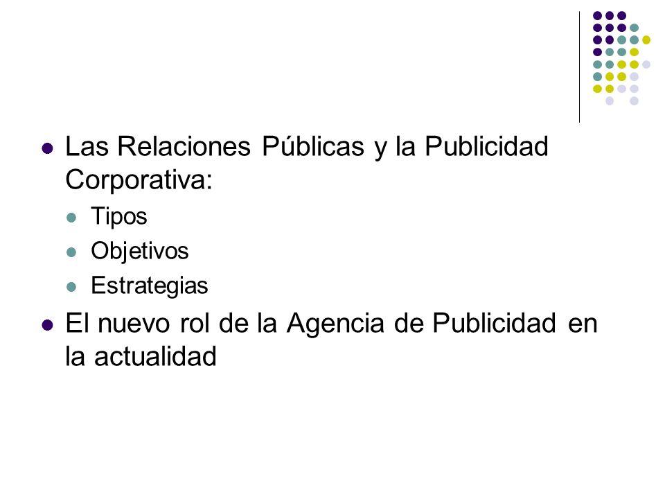 Las Relaciones Públicas y la Publicidad Corporativa: