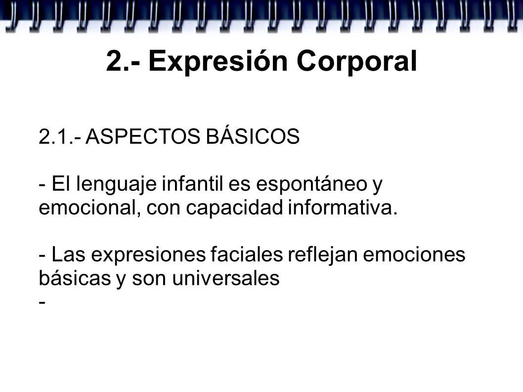 2.- Expresión Corporal 2.1.- ASPECTOS BÁSICOS