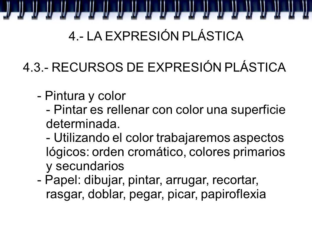 4.- LA EXPRESIÓN PLÁSTICA