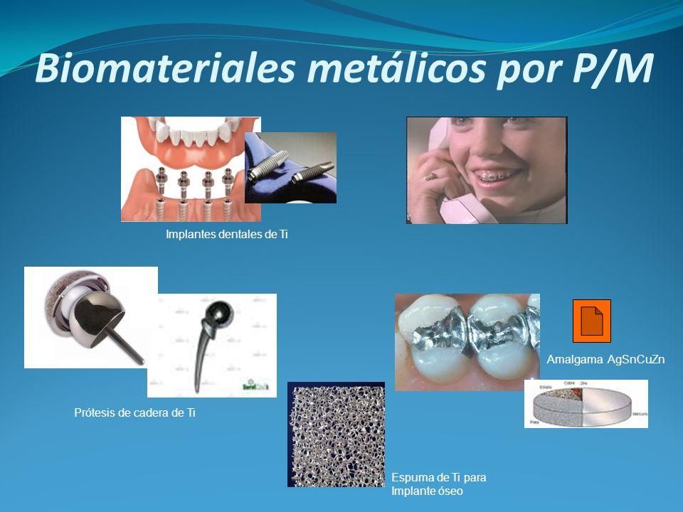Biomateriales metálicos por P/M