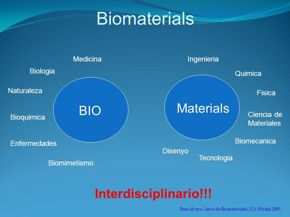 Biomaterials Materials BIO Interdisciplinario!!! Medicina Ingenieria