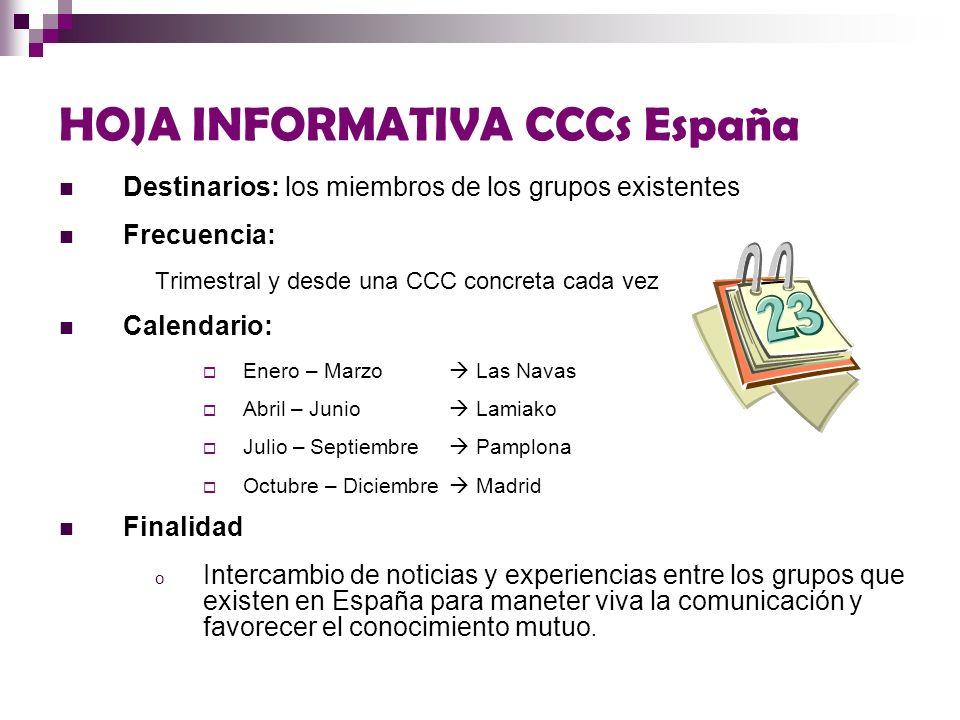 HOJA INFORMATIVA CCCs España