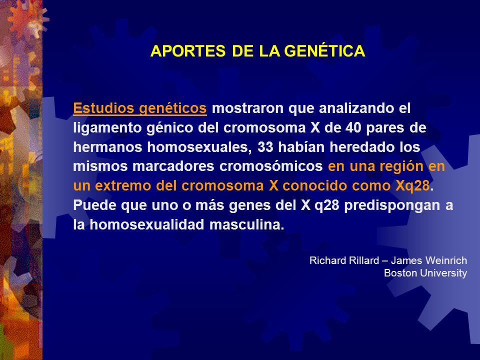 APORTES DE LA GENÉTICA