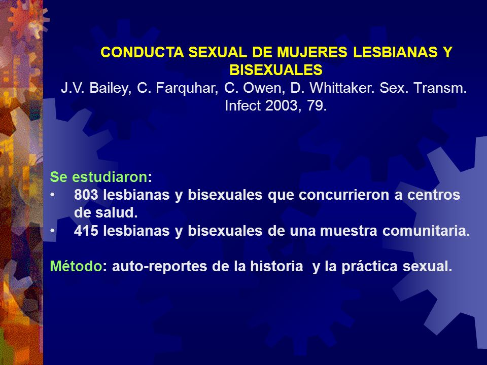 CONDUCTA SEXUAL DE MUJERES LESBIANAS Y BISEXUALES