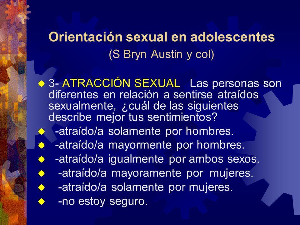 Orientación sexual en adolescentes (S Bryn Austin y col)