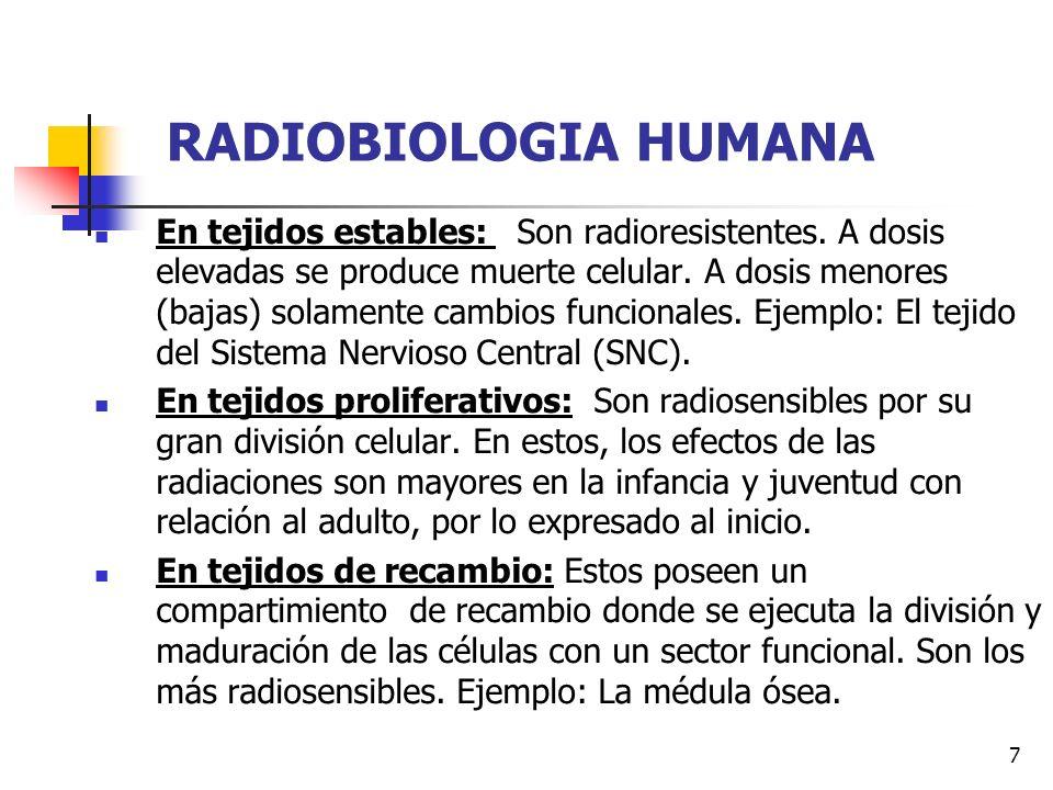 RADIOBIOLOGIA HUMANA