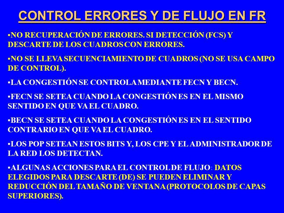 CONTROL ERRORES Y DE FLUJO EN FR