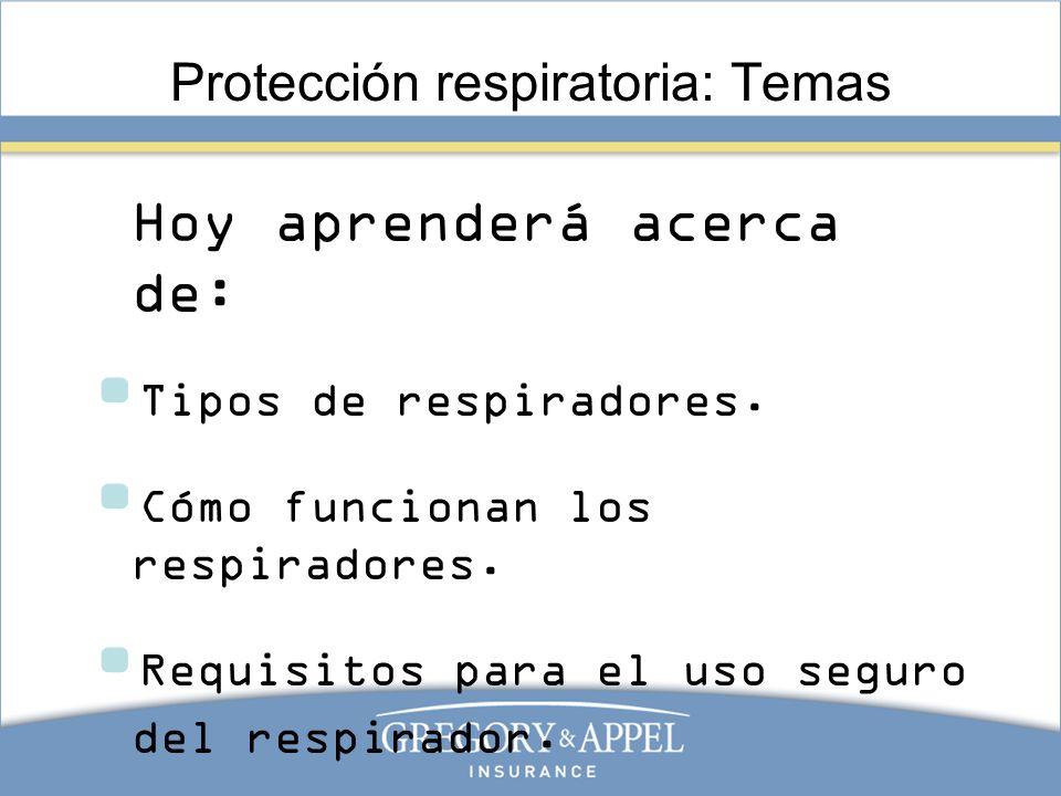 Protección respiratoria: Temas