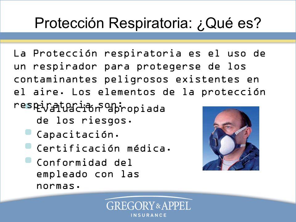 Protección Respiratoria: ¿Qué es