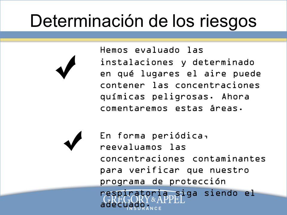 Determinación de los riesgos