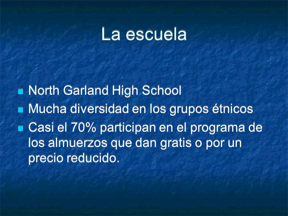 La escuela North Garland High School
