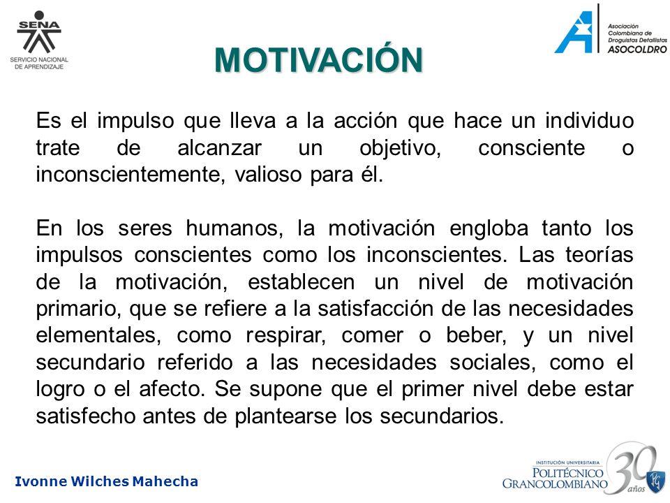 MOTIVACIÓNEs el impulso que lleva a la acción que hace un individuo trate de alcanzar un objetivo, consciente o inconscientemente, valioso para él.