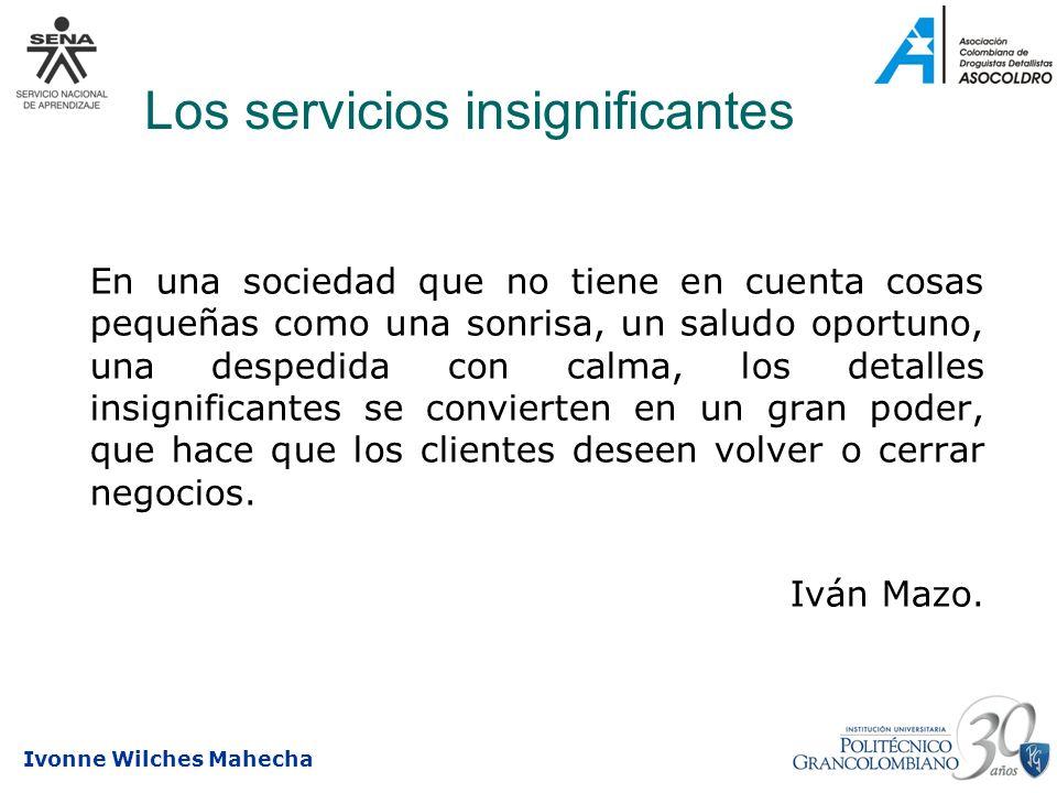 Los servicios insignificantes