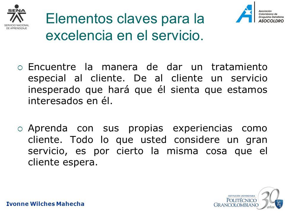 Elementos claves para la excelencia en el servicio.
