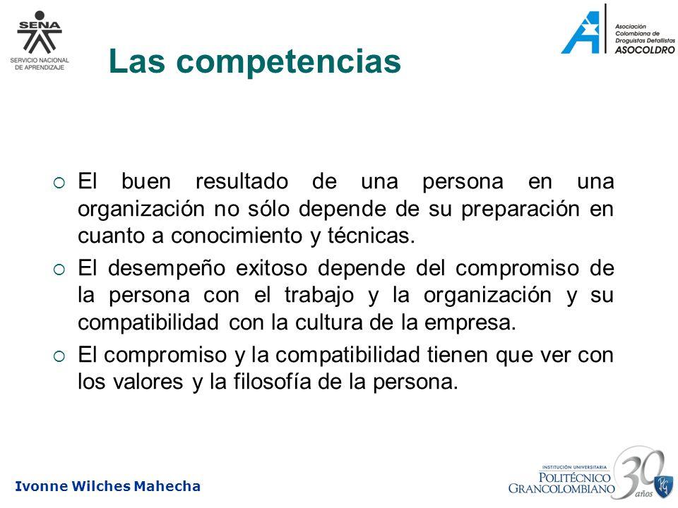 Las competenciasEl buen resultado de una persona en una organización no sólo depende de su preparación en cuanto a conocimiento y técnicas.