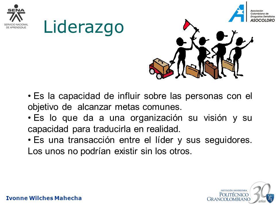 Liderazgo Es la capacidad de influir sobre las personas con el objetivo de alcanzar metas comunes.
