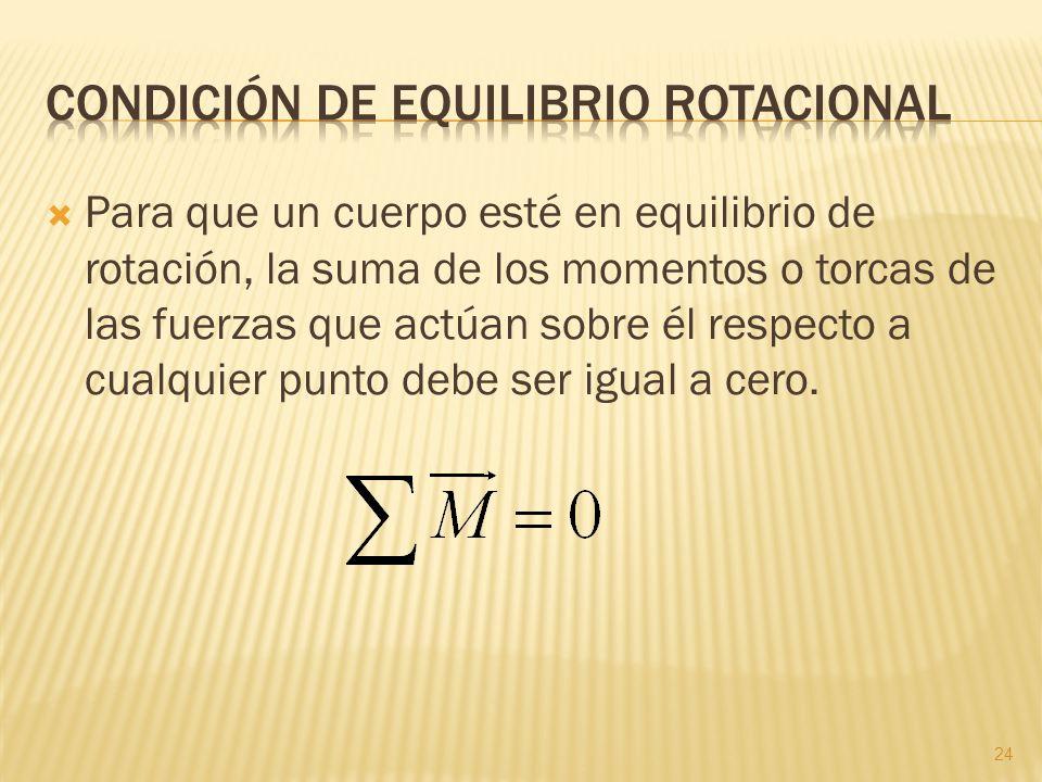 Condición de equilibrio rotacional