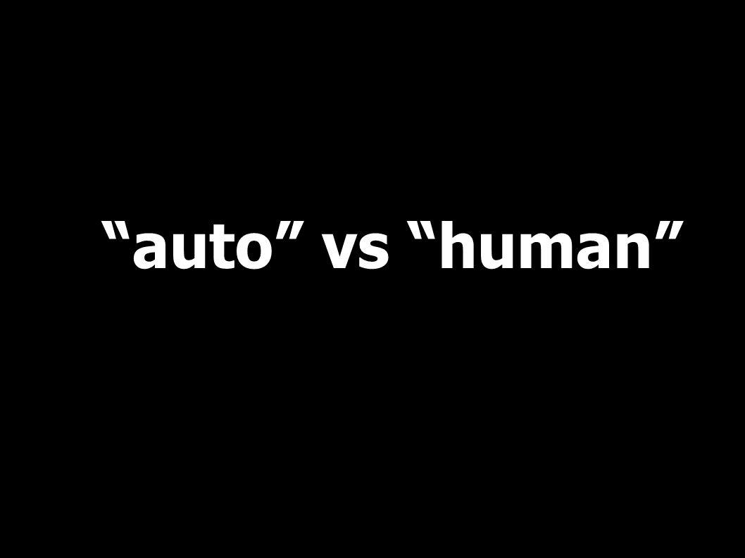 auto vs human