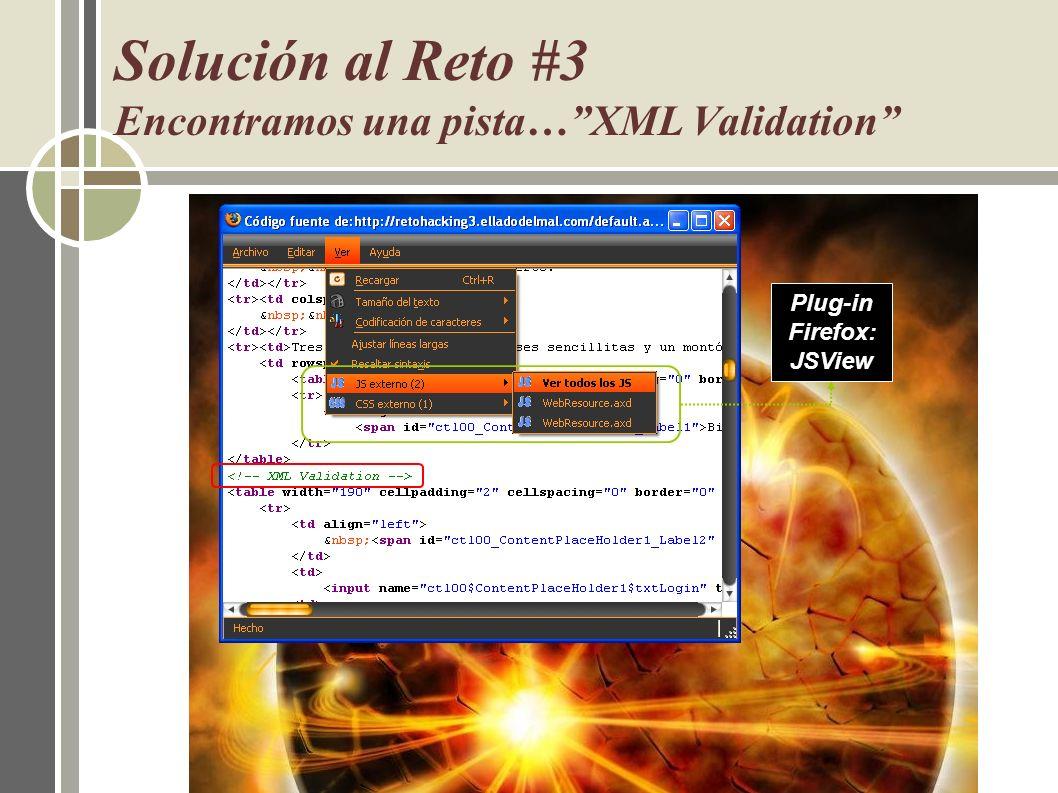 Solución al Reto #3 Encontramos una pista… XML Validation