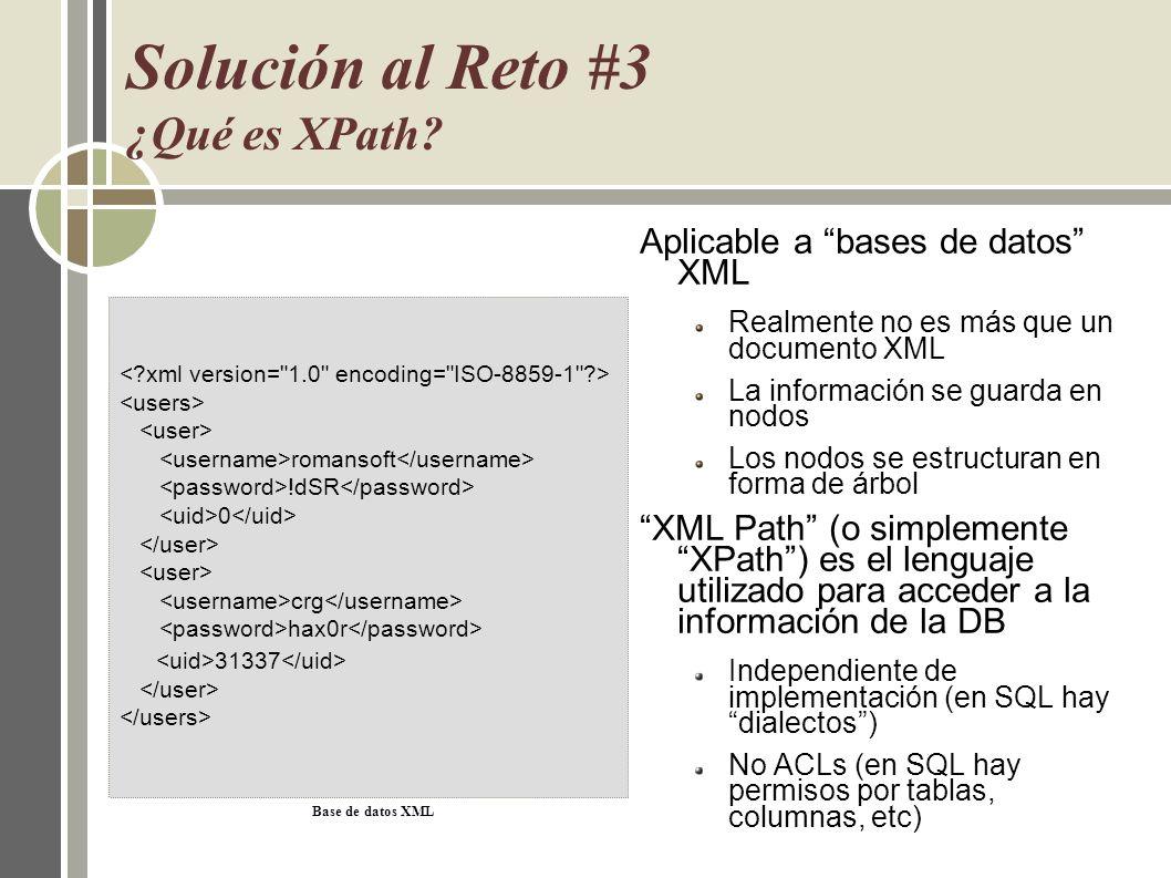 Solución al Reto #3 ¿Qué es XPath