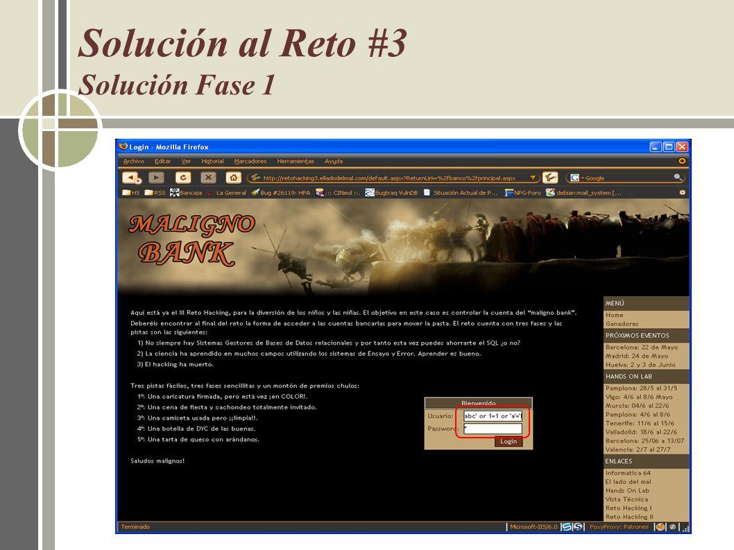 Solución al Reto #3 Solución Fase 1