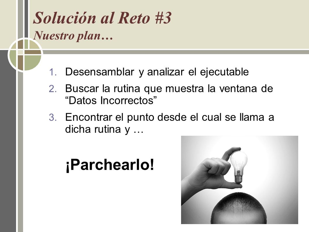 Solución al Reto #3 Nuestro plan…