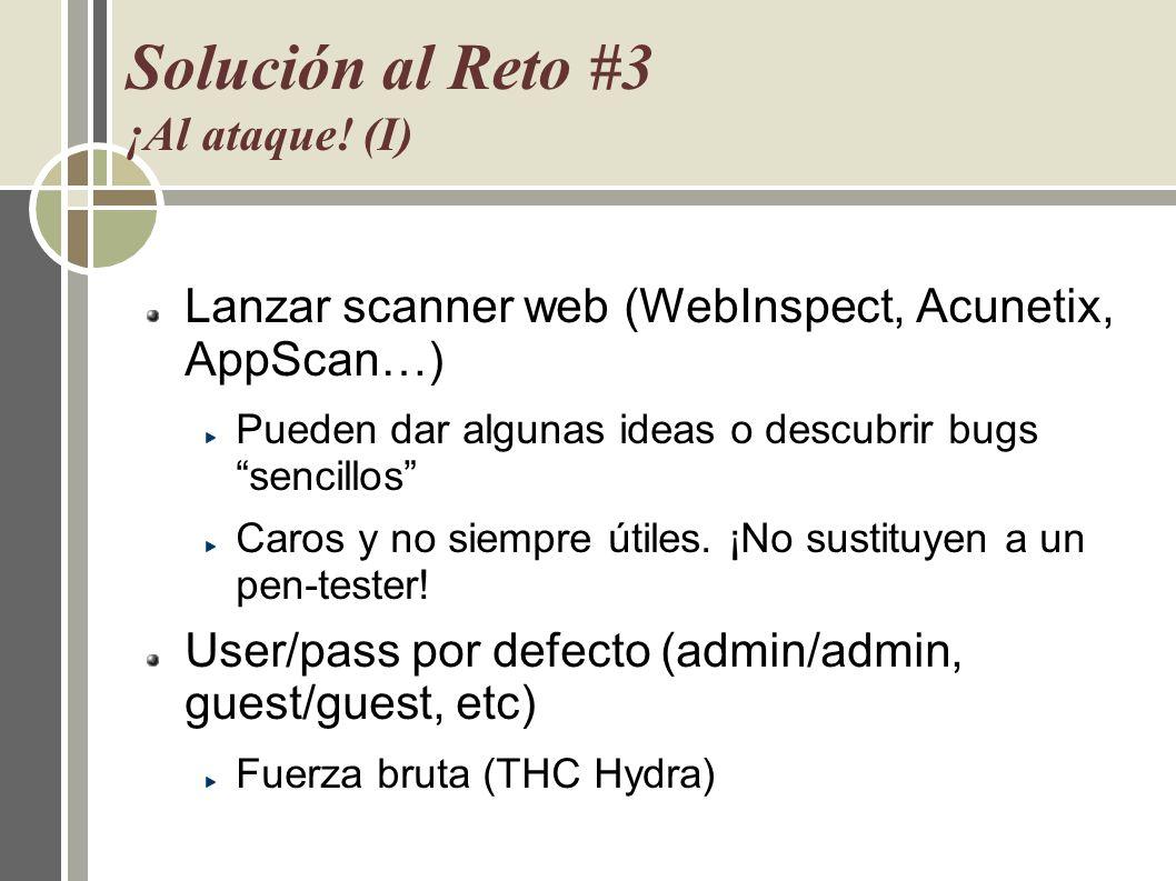 Solución al Reto #3 ¡Al ataque! (I)