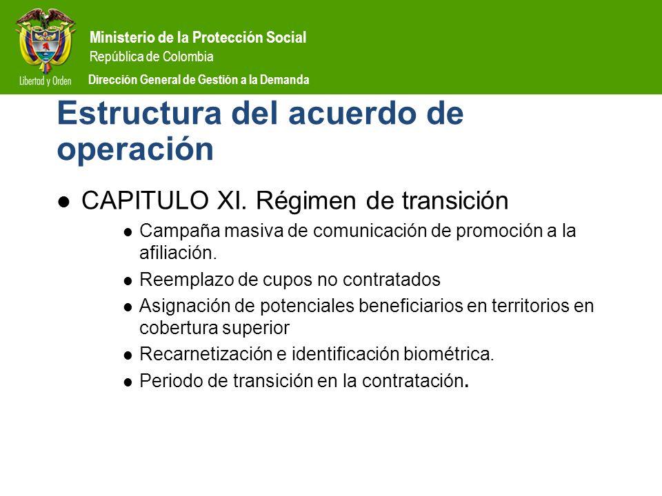 Estructura del acuerdo de operación