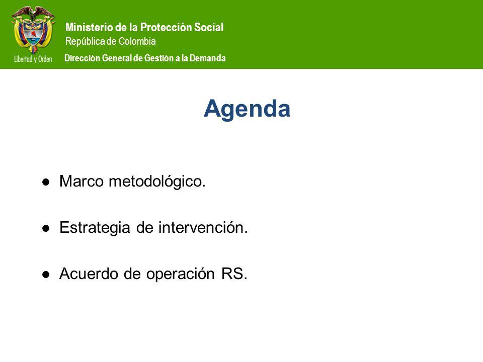 Agenda Marco metodológico. Estrategia de intervención.