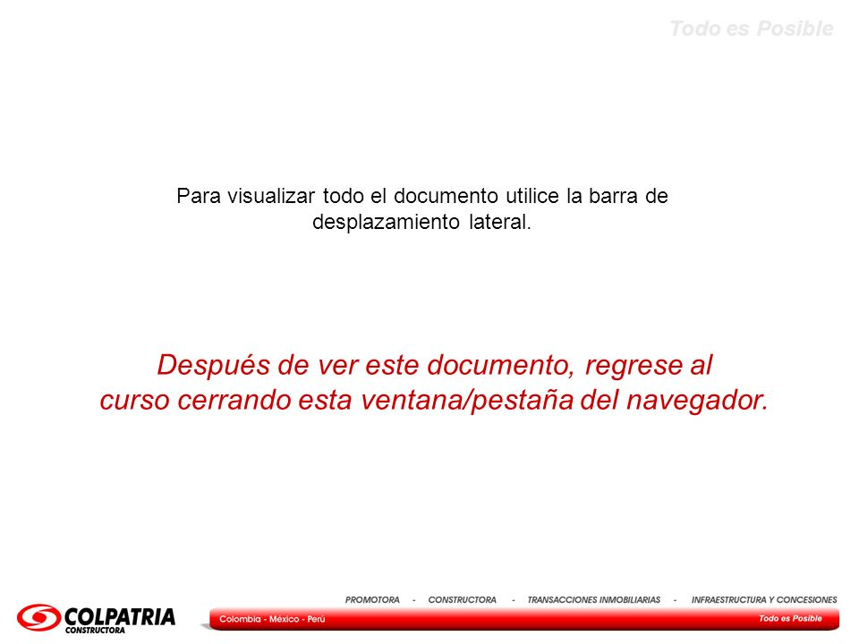 Después de ver este documento, regrese al