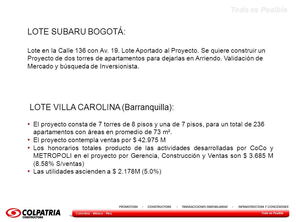 LOTE VILLA CAROLINA (Barranquilla):
