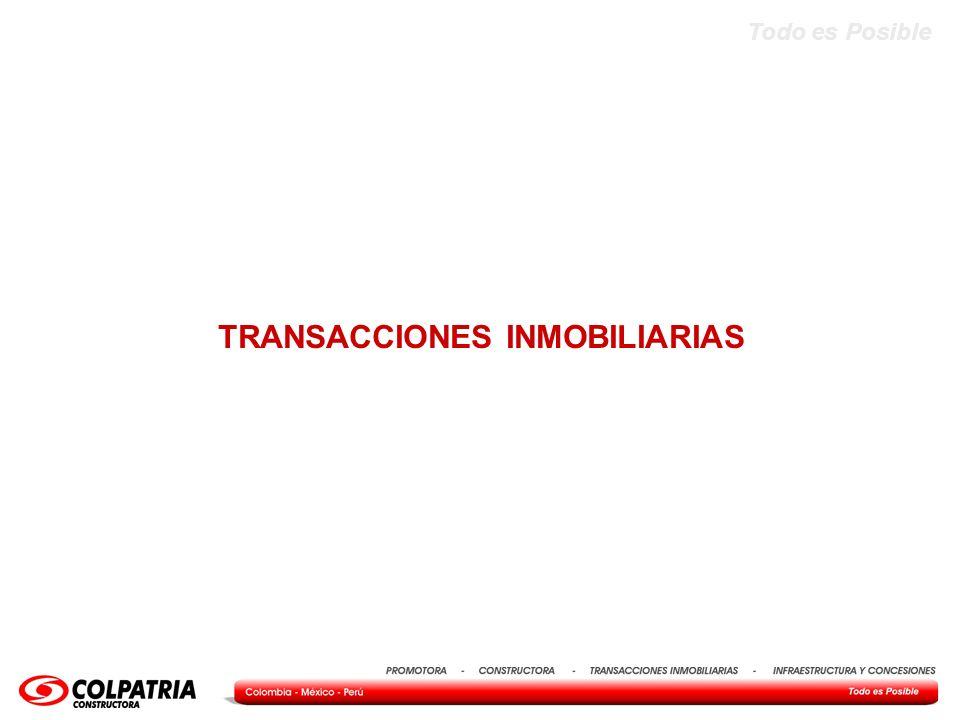 TRANSACCIONES INMOBILIARIAS
