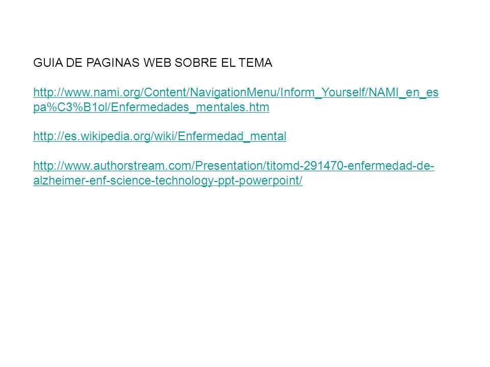 GUIA DE PAGINAS WEB SOBRE EL TEMA