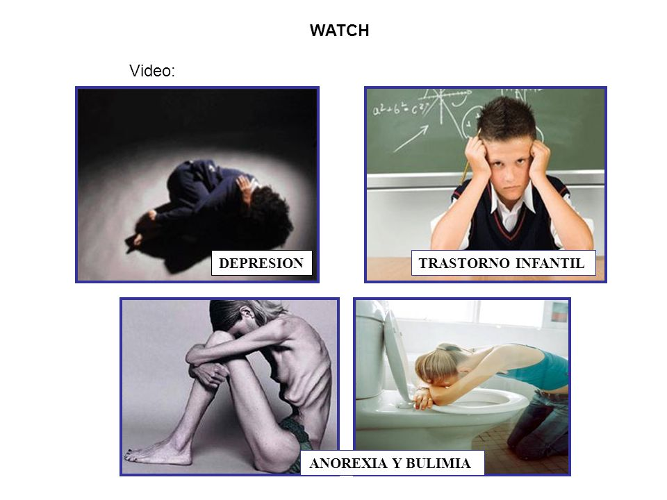 WATCH Video: DEPRESION TRASTORNO INFANTIL ANOREXIA Y BULIMIA
