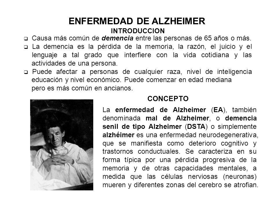 ENFERMEDAD DE ALZHEIMER INTRODUCCION