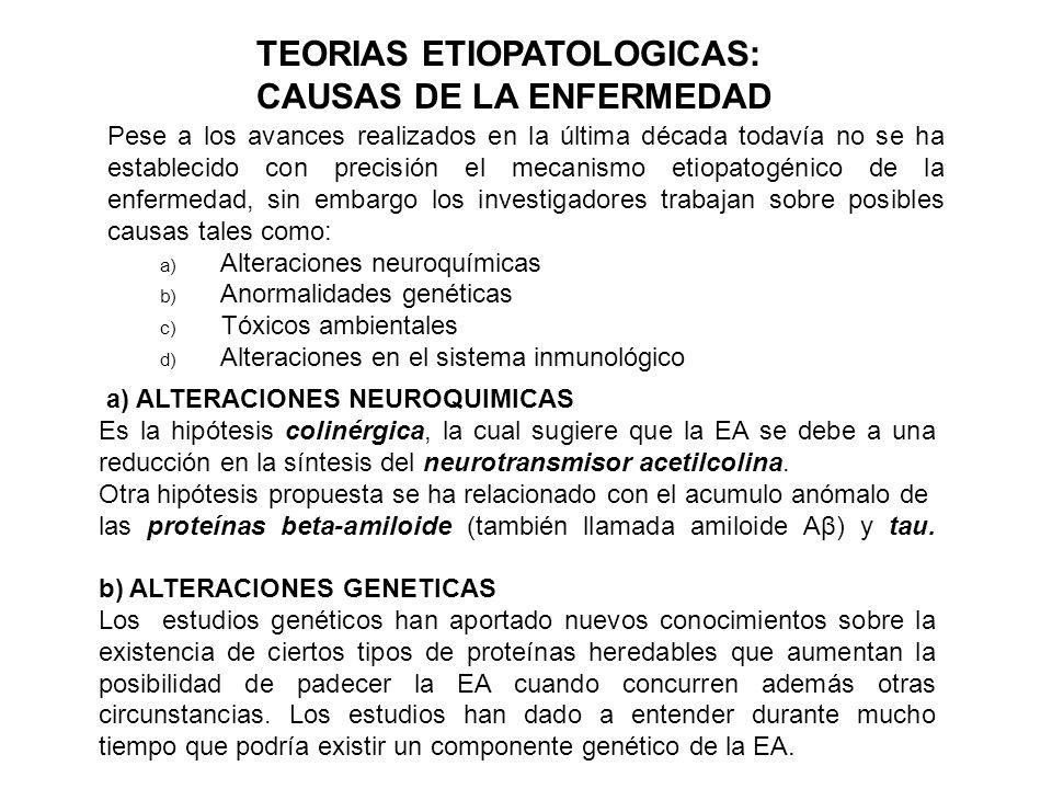 TEORIAS ETIOPATOLOGICAS: CAUSAS DE LA ENFERMEDAD
