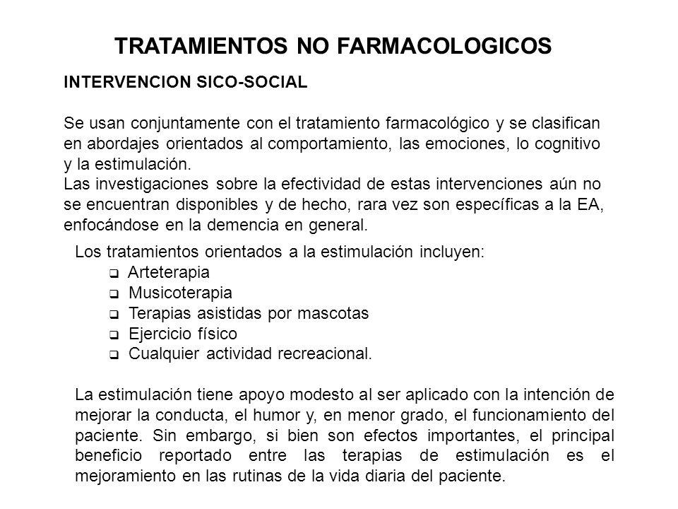 TRATAMIENTOS NO FARMACOLOGICOS