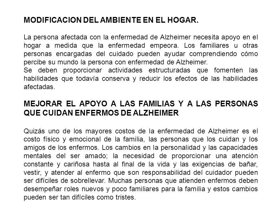 MODIFICACION DEL AMBIENTE EN EL HOGAR.