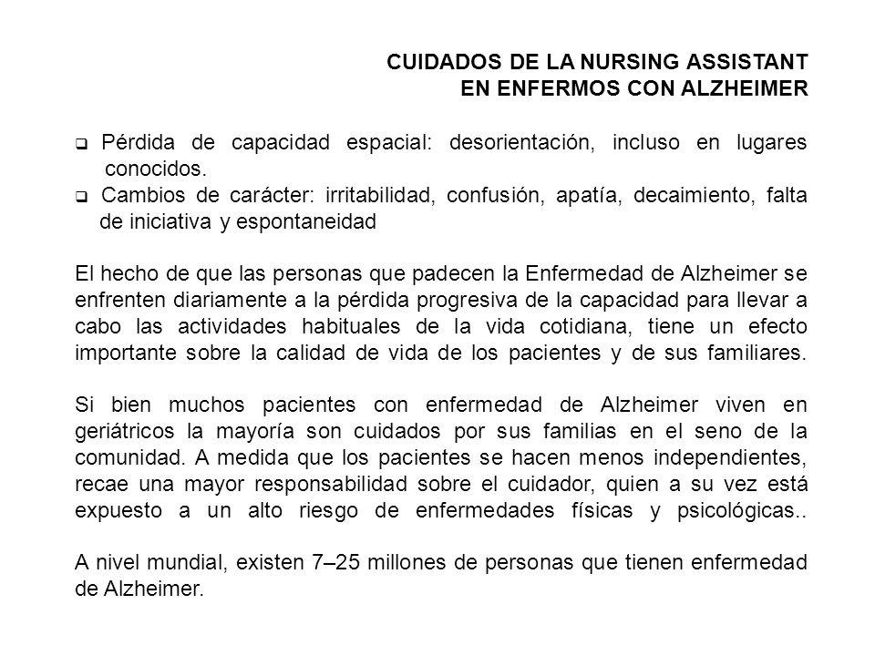 CUIDADOS DE LA NURSING ASSISTANT