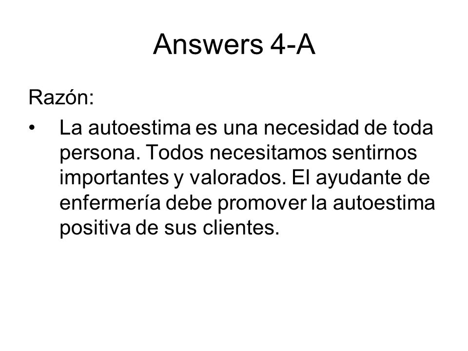 Answers 4-ARazón: