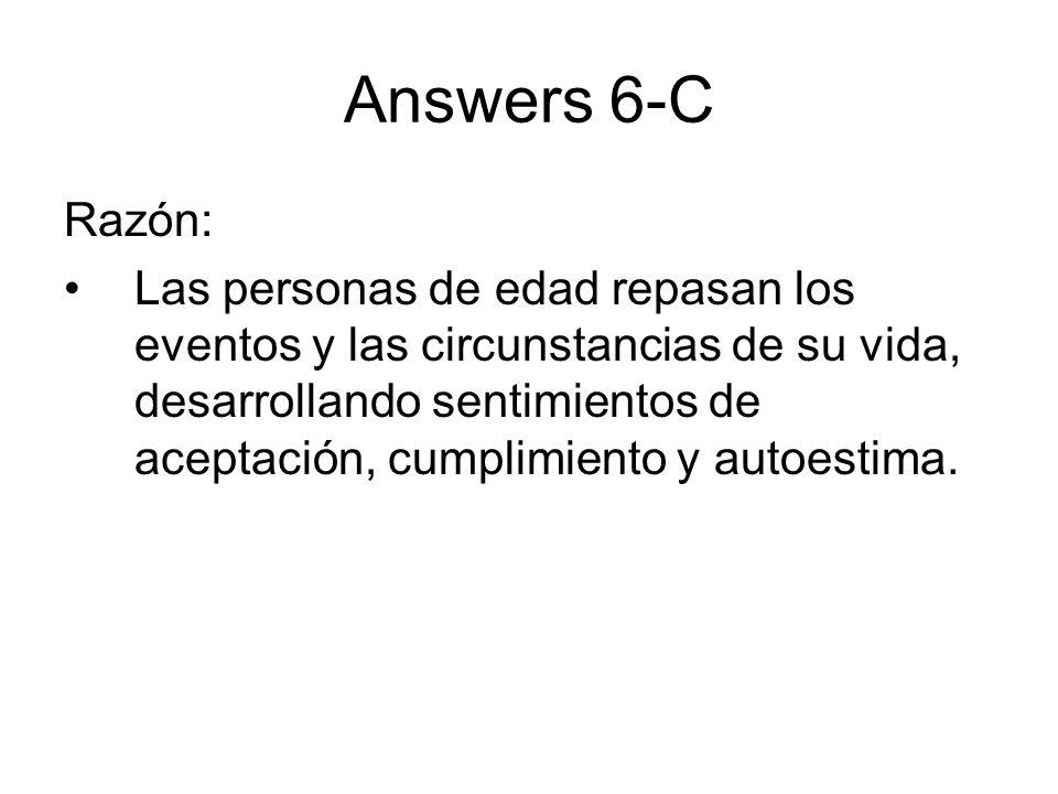Answers 6-CRazón: