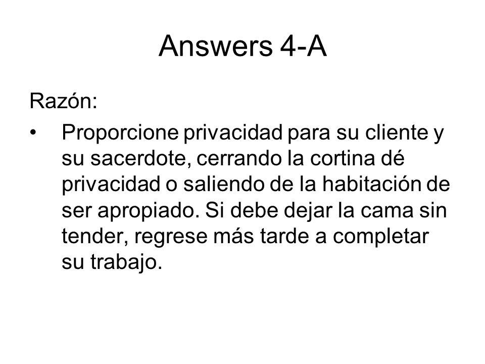 Answers 4-A Razón: